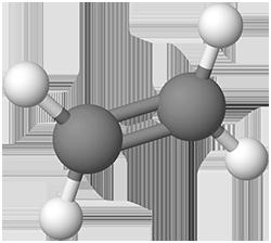 PNG Ethen Molekülmodell