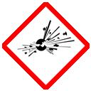 GHS-Symbol explosiv, instabil