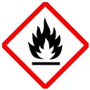 GHS-Symbol leichtentzündlich, hochentzündlich