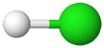 PNG Chlorwasserstoff Molekülmodell