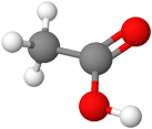 PNG Ethansäure Molekülmodell
