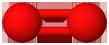 PNG Sauerstoff Molekülmodell