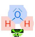 PNG Wassermolekül Modell