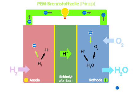 PNG Brennstoffzellenprinzip